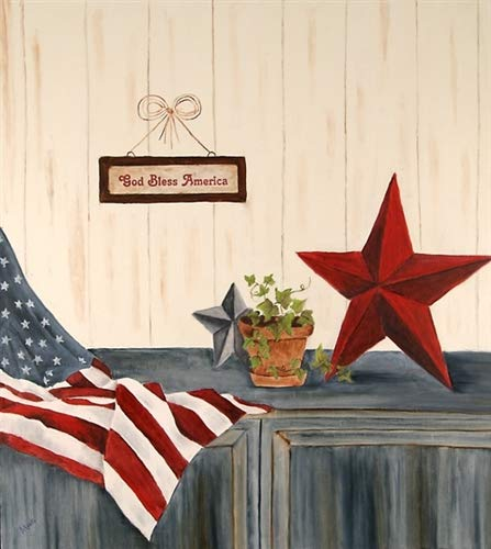 Star & Stripes Appliance Art Decorative Magnetic Dishwasher