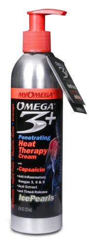 Douleur Myomega secours Thérapie par la chaleur Cream - La capsaïcine Based Anti-inflammatoire Crème topique. 8 oz