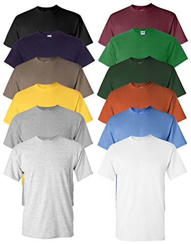 - Gildan Men's Heavy Cotton Tee (Pack of 12), Assorted Mixed Colors, Large