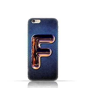 Apple iPhone 6 Plus/ 6S Plus TPU Silicone Case with Chrome Night Letter F Design Design