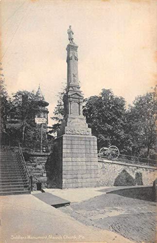Mauch Chunk Pennsylvania - Mauch Chunk Pennsylvania Soldiers Monument Vintage Postcard JE228486