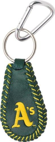 MLB Oakland Athletics Team Color Baseball Keychain