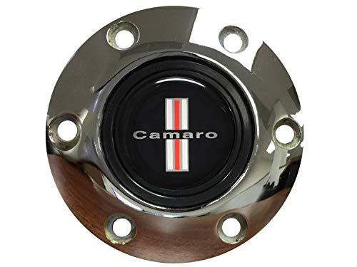 - Volante STE1024CHR Steering Wheel Horn Button-S6 Series (Chrome); Classic Camaro Emblem