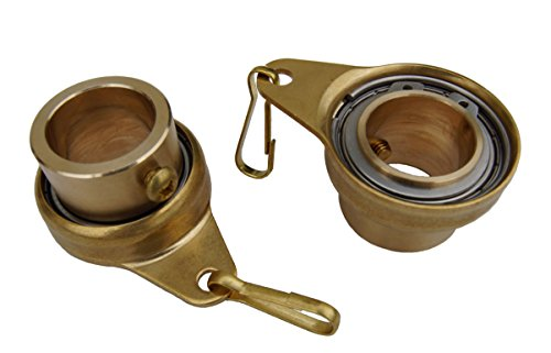 "Stanwood Wind Sculpture Non Tangle Flagpole Swivel/Rotating Ring, Brass Spinner with Stainless Steel Bearing - 1"", Pack of 2, Imported from Stanwood Wind Sculpture"