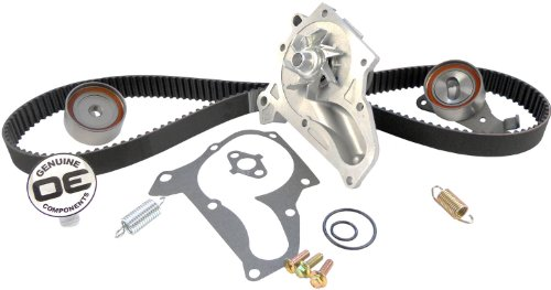 ACDelco TCKWP199 Professional Timing Belt and Water Pump Kit with Tensioner, Idler Pulley, and 2 Springs (Camry 2001 Timing Belt)