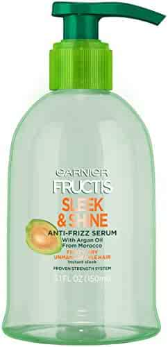Garnier Fructis Sleek & Shine Anti-Frizz Serum, Frizzy, Dry, Unmanageable Hair, 5.1 fl. oz.