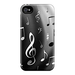Phone Case Case Cover Protector Specially Made For Iphone 4/4s Music Notes