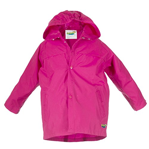Run Jacket - Splashy Children's Rain Jacket (5/6, Hot Pink)