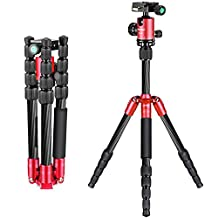 Neewer Carbon Fiber 56 inches/141 centimeters Portable Mini Tripod with 360 Degree Ball Head,1/4 inches Quick Release Plate, Bag for Canon Nikon Sony Camera, Camcorder, up to 6.6 pounds/3 kilograms