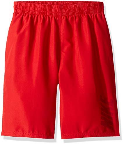 Nike Swim Big Boys' Logo Solid Lap Volley Short Swim Trunk, University Red, Small
