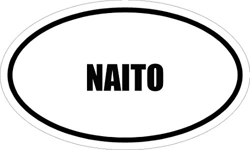 """6"""" printed NAITO name oval Euro style MAGNET for any metal surface"""