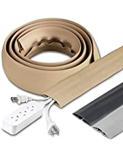 Cordinate, Black, Floor Cord Cover, Rubber, Low Profile, Cable Protector