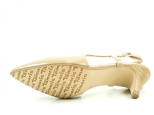 Tamaris 1-29601-28 Zapatos De Las Señoras Tacones Honda Sandalias De Color Beige 100% auténtico en venta Liquidación Pague con Visa g70fWCGjE