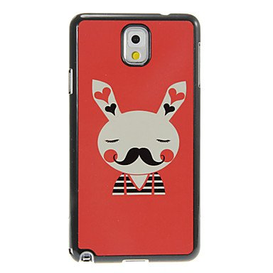 Rayshop - Beard Rabbit Pattern Aluminum&Plastic Hard Back Case Cover for Samsung Galaxy Note3 N9000
