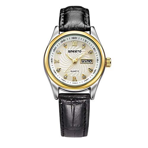 Sannysis Reloj Moda Relojes Pulsera Mujer,Circonta Flor,Aleación de Titanio Analógico Cuarzo Reloj de Pulsera (Marron Blanco): Amazon.es: Relojes