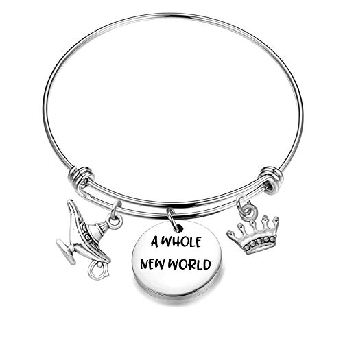 BNQL A Whole New World Aladdin Bracelet Gift for Her (Silver)