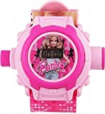 Gaanu Digital Pink Light Barbie Kids Watch (24 Different Images Projector)