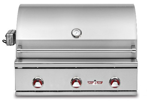 """Delta Heat DHBQ32G-CL 32"""" Outdoor Gas Grill with Direct Heat LED Control Panel Lights Ceramic Radiant Grilling System and Temperature Gauge in Stainless Steel: Liquid Delta Heat"""