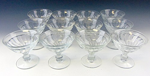 Lot of 12 Fostoria COLONY-CLEAR Champagne/Sherbet Glasses EX ()
