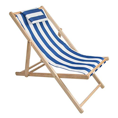 Fang zhou Adjustable Beach Chair, Folding Solid Wood Oxford Canvas Recliner Portable Perfect Comfortable Environmental Protection, for Outdoor Lunch Break