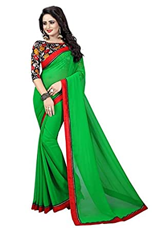 Sangini Fashion Georgette Party Wear Designer Saree With Digital Printed SareesSarees (Women's Clothing Saree For Women Latest Design Wear New Collection in Latest With Designer Blouse Free Size Beautiful Saree For Women Party Wear Offer Designer Sarees With Blouse Piece)