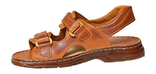 812 Scarpe di in Uomo Modello Confortevoli Pelle Sandali Vera Marrone Bufalo Ortopedici R8vxSqBx