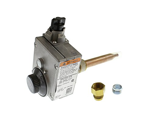 Outlet Npt (White Rodgers 37C73U-173 Gas Water Heater Ctl, For Nat Gas Only, 1/2