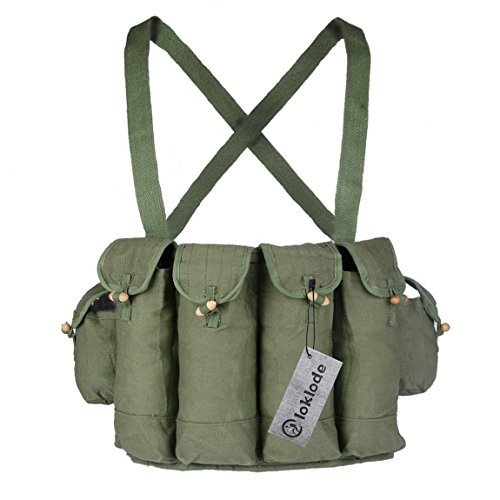 Loklode Surplus Military Chinese Type 81 Ak47 Rifle Chest Rig Ammo Pouch Green