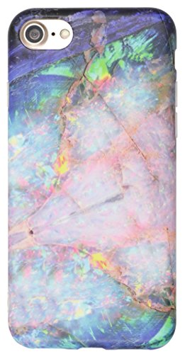 iphone-7-case-iiexcel-marble-design-imd-frosted-series-colorful-gem-blue-opal-pattern-anti-scratch-t