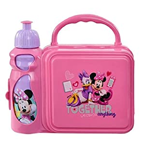 UPD MMOYG521 Minnie Mouse Combo Lunch Box with Water Bottle, Small, Multi