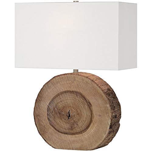 Elixa Table Lamp in Natural Wood Finish