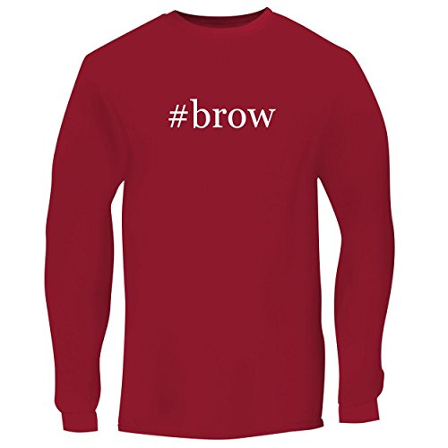 #brow - Men's Long Sleeve Graphic Tee, Red, XXX-Large