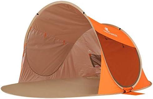 APENCHREN Pérgola para Acampar, Sombra de Vela Impermeable, Tienda de Playa portátil, Tienda de Pesca al Aire Libre (160x260x130cm / 5.2x8.5x4.2ft),Orange: Amazon.es: Jardín