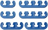 Mota Performance A70237 Universal Spark Plug Wire Loom Separators, Blue