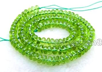 """+ 4 mm Faceted Natural AAA Green Peridot Gemstone Round Loose Beads 15/"""""""
