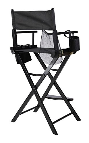 Professional Makeup Artist Directors Chair Wood Light Weight Foldable Black New by Unknown (Image #2)