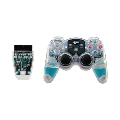 DREAMGEAR DGPN-524 PlayStation2 Lava Glow Wireless Controller (Blue) by dreamGEAR (Controller Glow Lava)