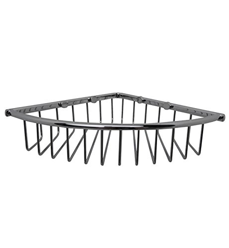 (Essentials Corner Wire Soap Basket Finish: Chrome)