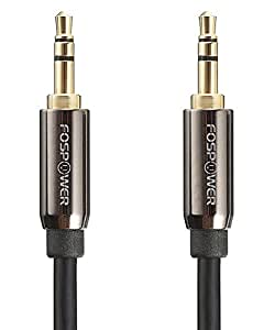 Audio Cable (0.9M/3FT), FosPower 3.5mm Stereo Jack [24K Gold Plated | Step Down Design] Auxiliary Aux Audio Cable Cord for Headphones, iPods, iPhones, iPads, Home / Car Stereos and More