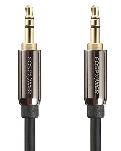 FosPower Audio Cable (15 FT), Stereo Audio 3.5mm Auxiliary Short Cord Male to Male Aux Cable for Car, Apple iPhone, iPod, iPad, Samsung Galaxy, HTC, LG, Google Pixel, Tablet & More ()