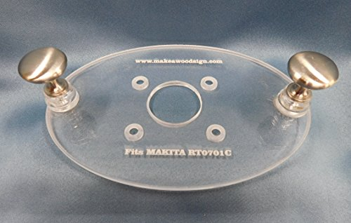 Acrylic Router Base Plate for the Makita RT0701C Palm Router