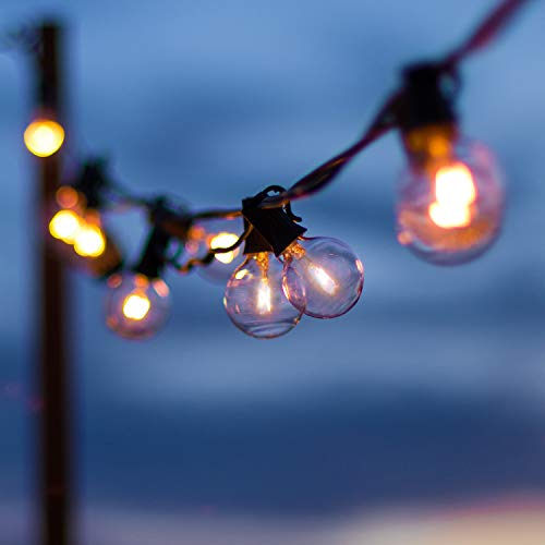 2 Pack Globe String Lights 112 Ft Totally, 120 Edison G40 Bulbs (20 Spare) Hanging String Lights Connectable Waterproof…