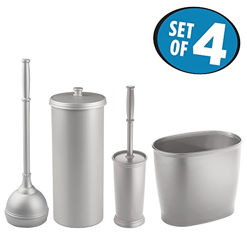 Mdesign Bathroom Accessory Sets Accessories Set Plunger