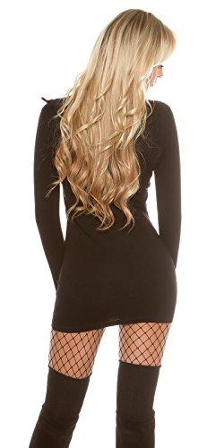 koucla Sudadera para hombre con zip–Chaqueta de punto jersey long Sudadera Cuello Alto One Size 34–�?8 negro
