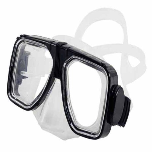 Scuba Max MK-121 Navigator Medium Skirt Scuba Dive Mask-Black / Clear