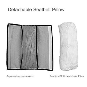 Seatbelt Pillow Gray Pillow Shoulder Cover Pad for Car Children Baby Safety Strap Plush Soft Cushion Headrest Neck Support Kids Car Seat Belt Covers for Baby Car Belt Pillow Car Seat Belt Covers