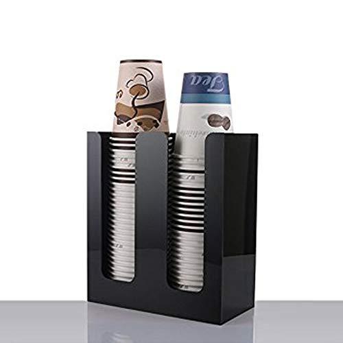 Cikuso Coffee Cup/&Lid Sleeve Dispenser Cup Holder Cup Holder Two Cup Holder Paper Cup Storage Rack