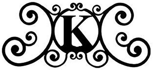 (Wrought Iron House Plaque Letter K)