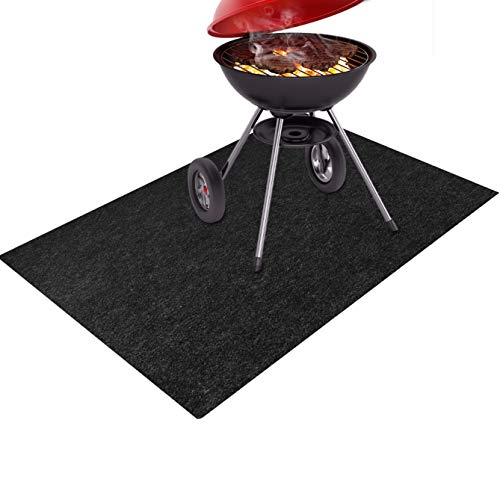 Together-life Gas Grill Splatter Mat, Fireproof Heat Resistant Non Stick BBQ Patio Protector Grilling Gear, Backyard Floor Protective Rug (60'' x 36'')