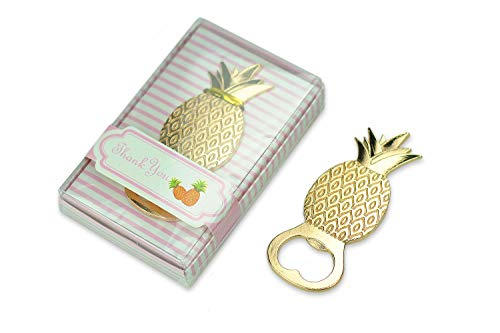 30 PCS Bottle Openers Wedding Favors Decorations, Gold Pineapple, Gift Box Party Supplies